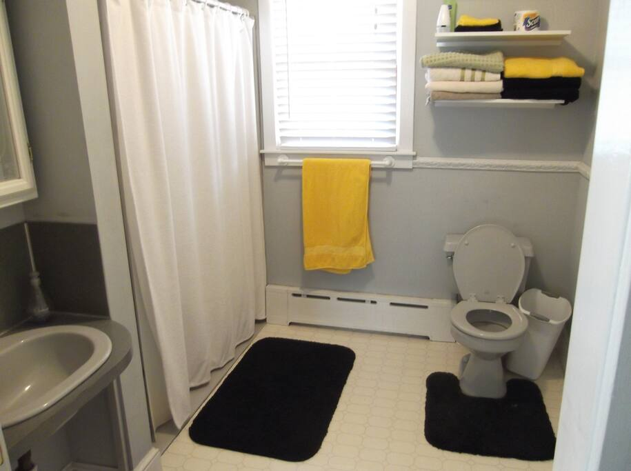 Bathroom with handicap shower
