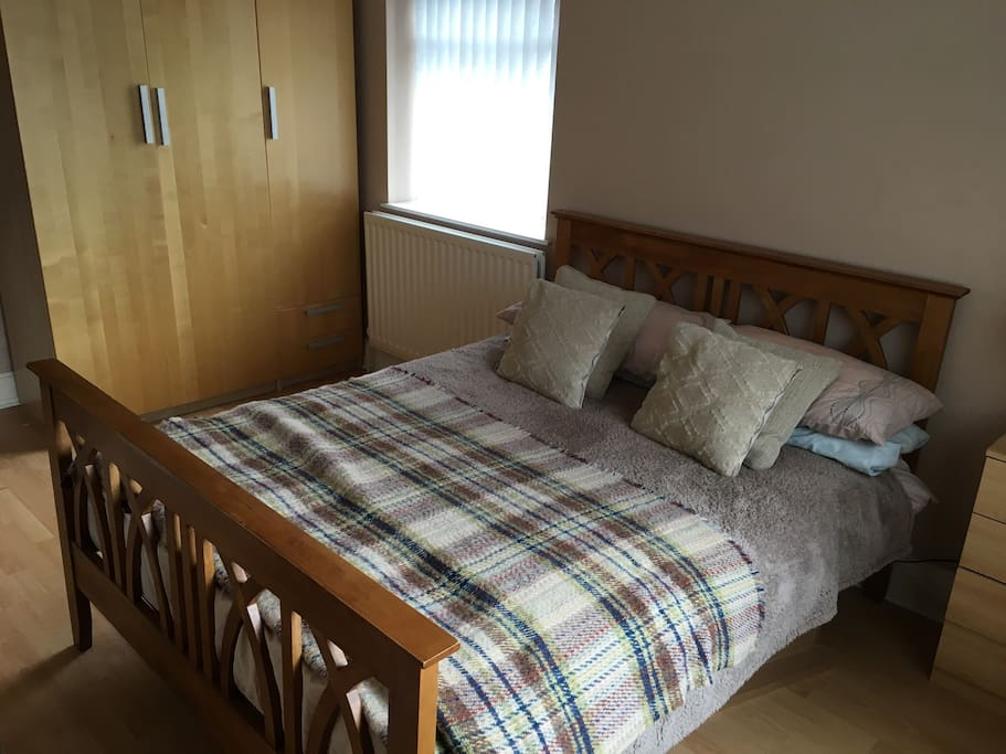 One of the bedrooms available, light and airy, spacious and lots of storage space