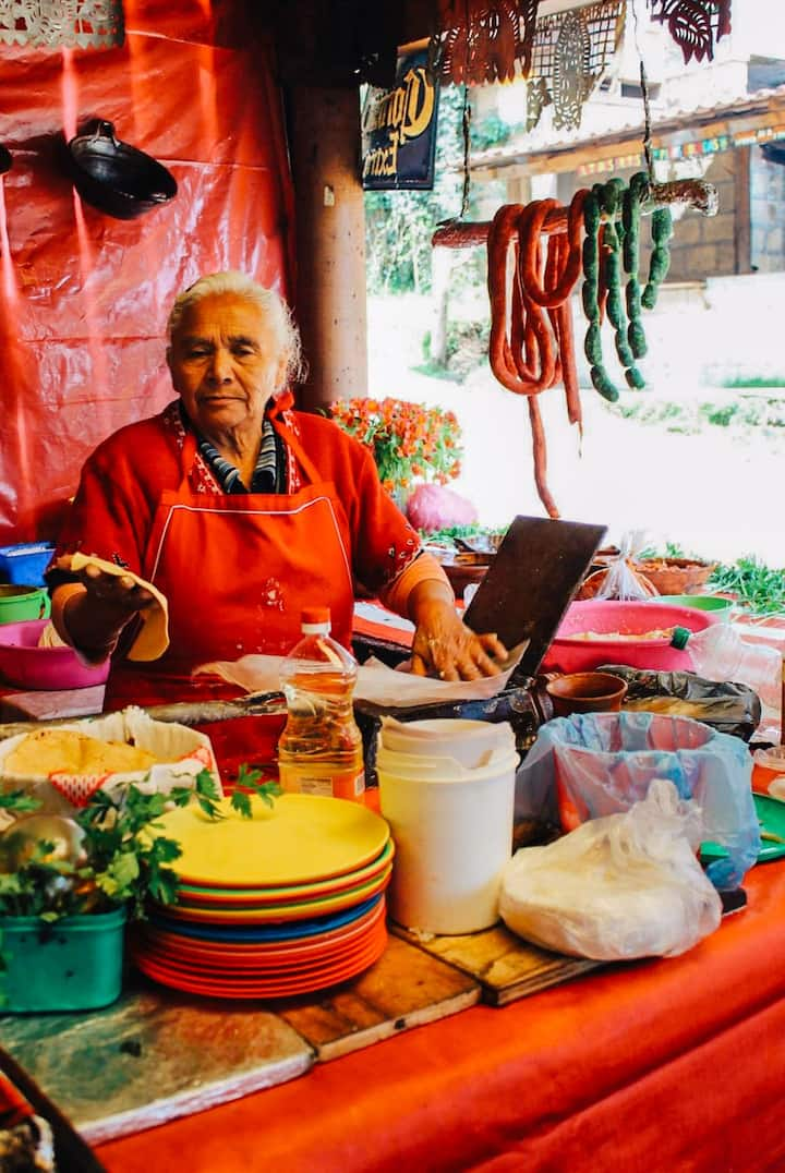My Grandmother making tortillas