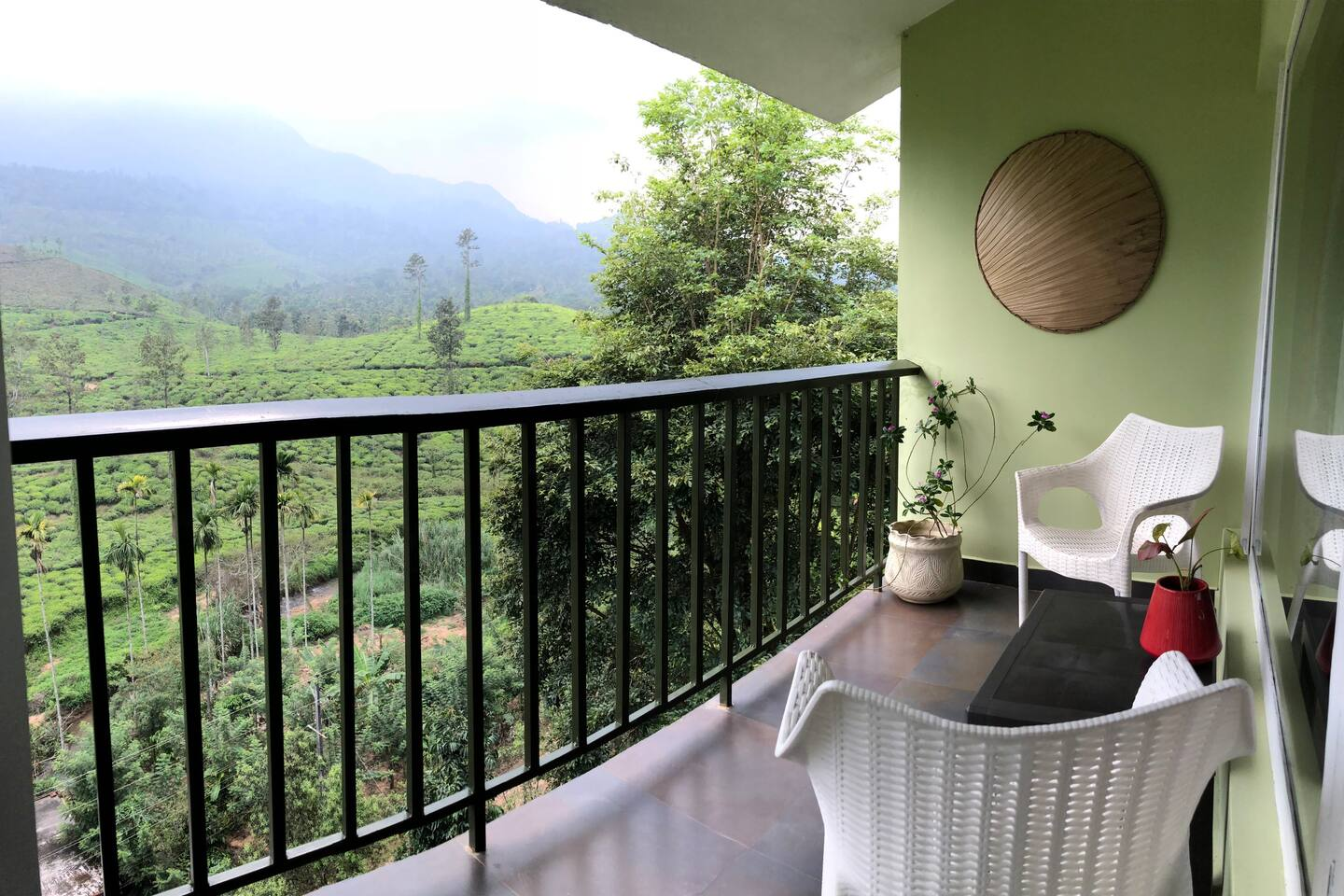 both of our balconies ( bedroom and living room)  open to the amazing view of Chembra peak, the tallest peak of Wayanad!