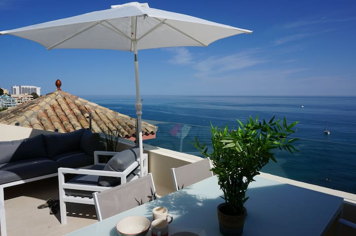 "Penthouse w/""private"" beach and SPA - Benalmádena - Apartemen"