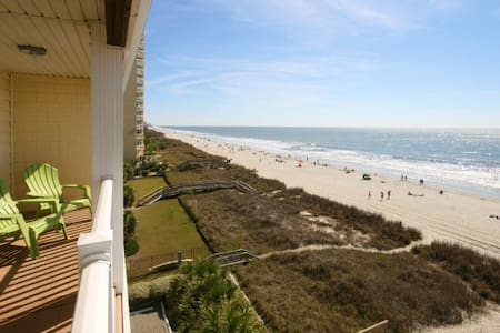 Beautiful oceanfront condo 7 bed 5.5 bath large corner unit with amazing views! - 北默特尔海滩(North Myrtle Beach)