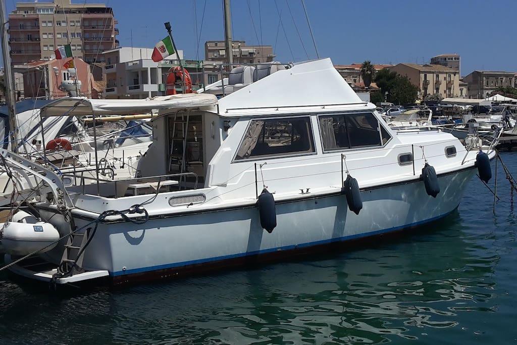 The boat in Ortigia island