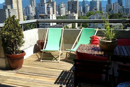 Ocean View Penthouse +300sqft Patio - Vancouver - Apartment