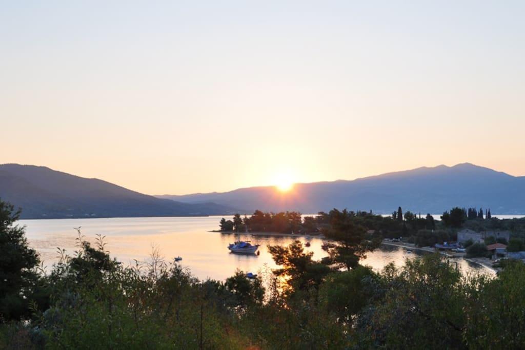 Sunrise view from the veranda