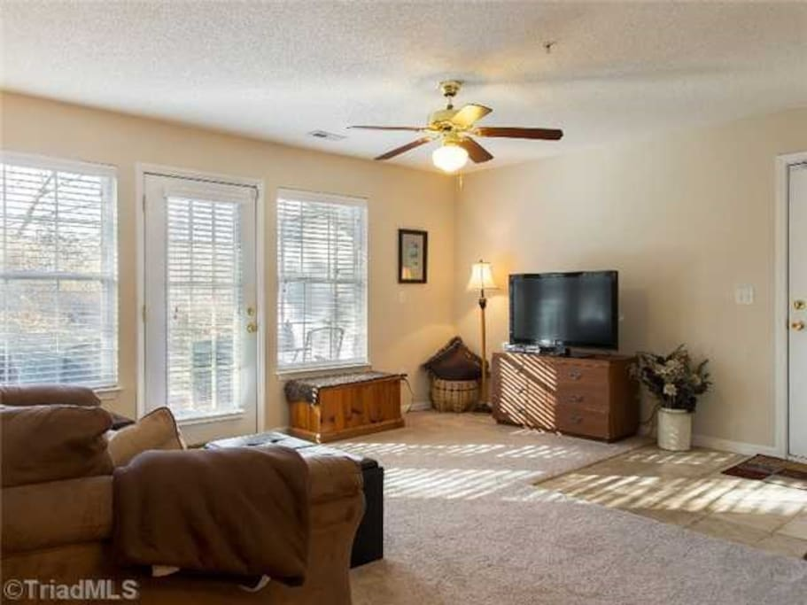 Living Room with 32 in Flat Screen TV