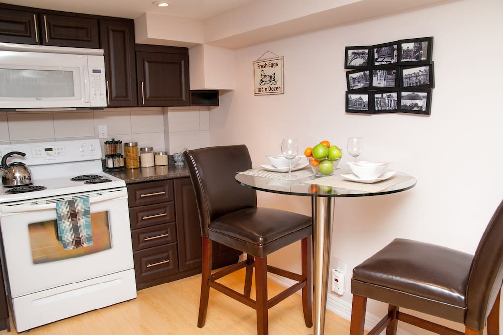 An intimate dining space for two at Sean's Place.