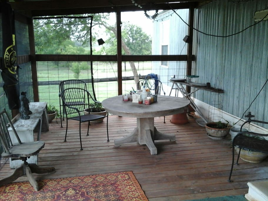 Relax on this 300 sq ft deck over looking a 10 acre pond.