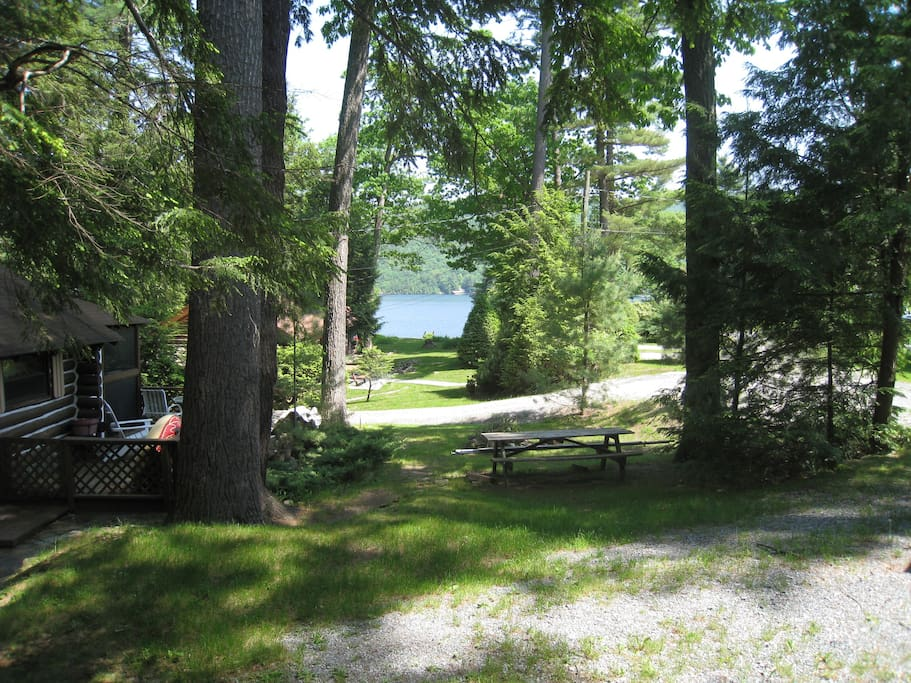 View to the lake from the front porch