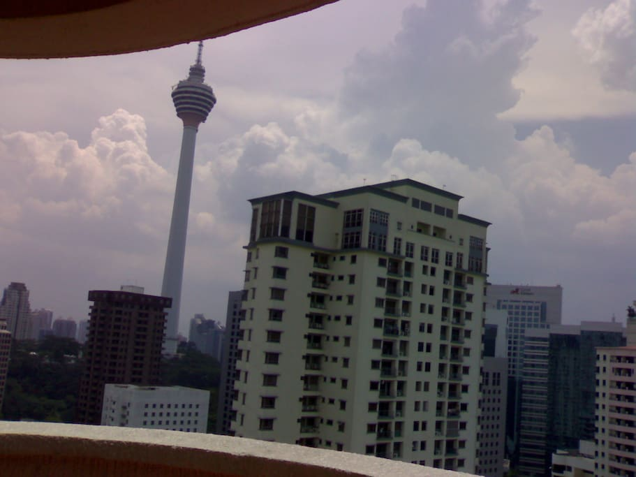 view from balcony -KL tower and Bukit Binatng