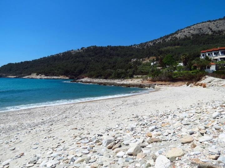 On the beach Villa Glaykos