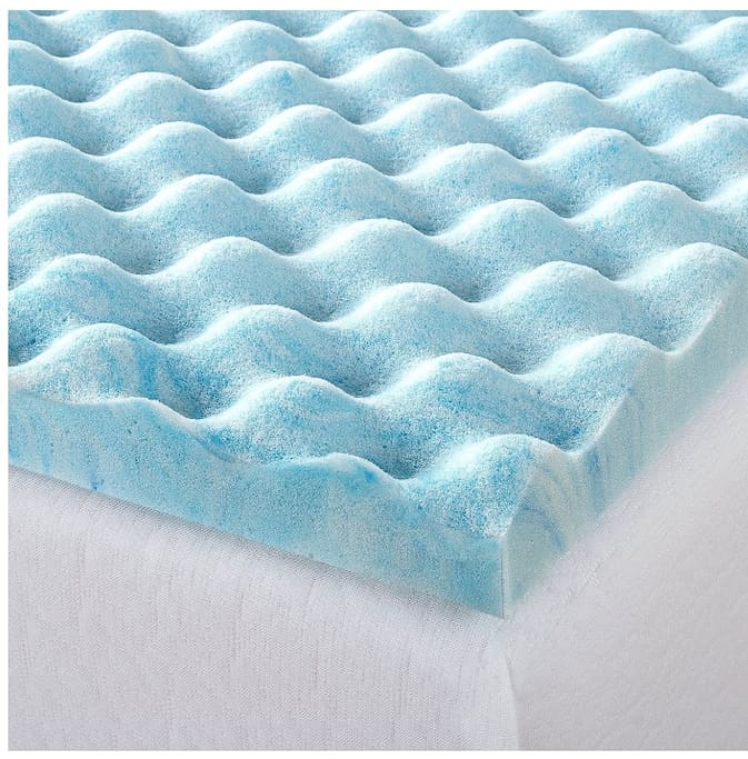 "2"" Air Flow Topper will keep you cool on top of the comfortable memory foam mattress."