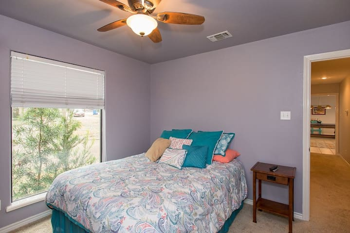 A cozy guest bedroom to rest after a day on the lake.