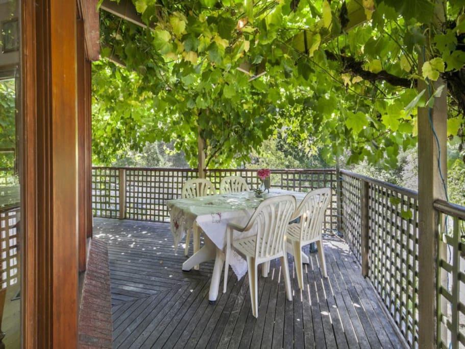 Sip a cool drink on the verandah and enjoy the garden outlook.