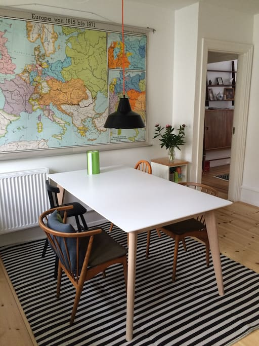 Dining in eat-in kitchen