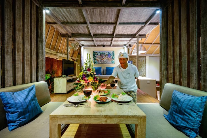 Made preparing a delicious and orginial balinese style romantic dinner  You can add a full romantic honeymoon package. See description for details or contact us