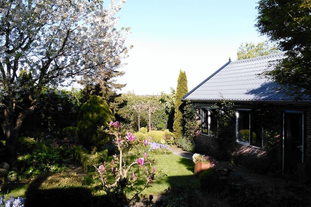 De aangrenzende tuin