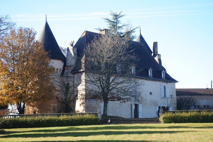 Chambre romantique ds chateau XVIè - Trélissac - Castelo