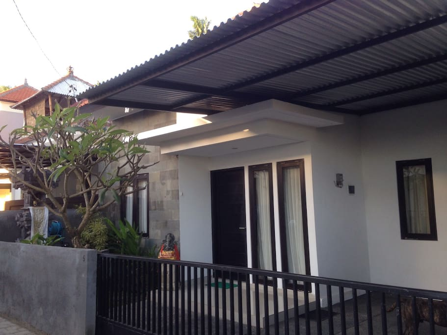 Facade...modern style of front area