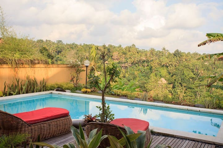 Jungle view 1 bedroom villa with private pool - ubud - Apartment
