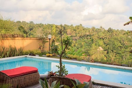 Jungle view 1 bedroom villa with private pool - ubud - Huoneisto