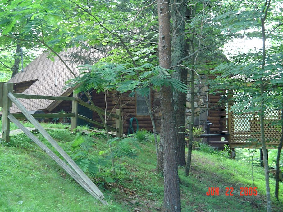 Cabin is real Log built cabin and very private