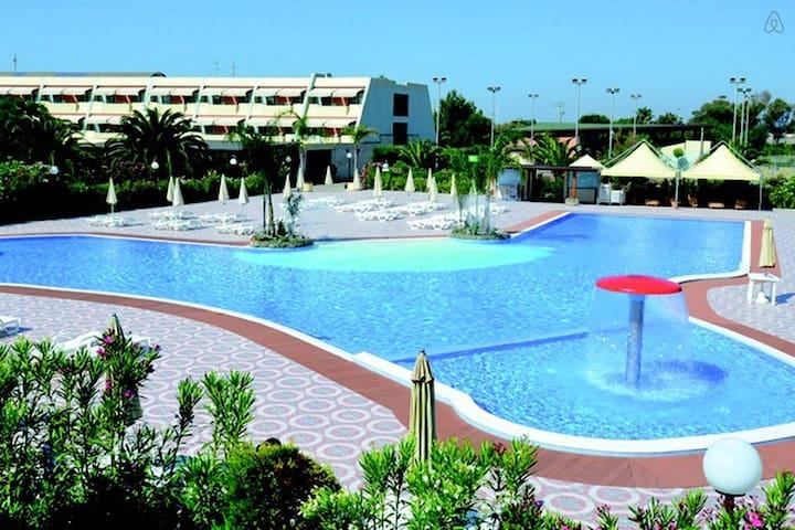 Casa in residence con vista piscina - Lido - Dom