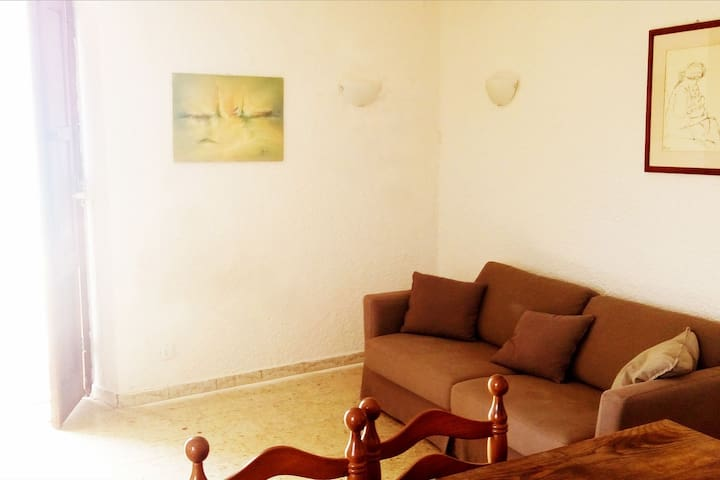 Spacious apartment in a historical building with a sheltered garden, directly by the sea.