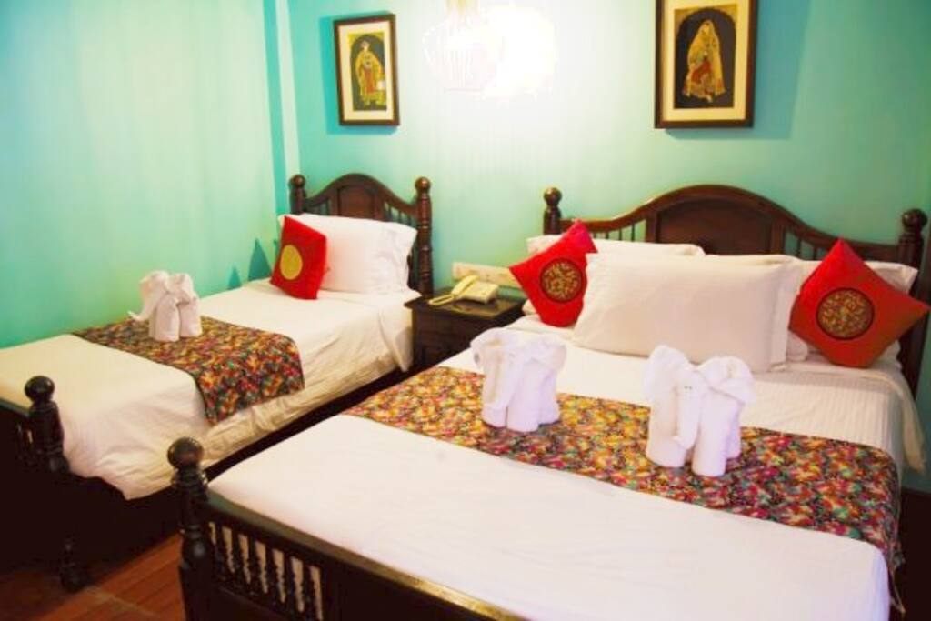 Each bed is carefully prepared with fresh linens and towels for each and every guest