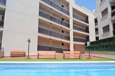 APARTMENT WITH POOL AND CLOSE TO THE BEACH! - L'Ampolla - Lejlighed