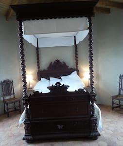 Chambre romantique dans un chateau. - Saint-Bauld - Castelo