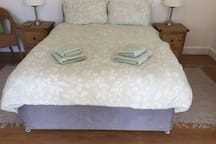 Very comfy Double Duvan bed with memory foam mattress.