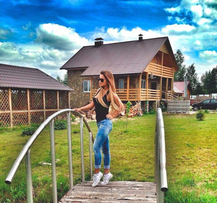 Beautiful spacious house near the lake Naroch