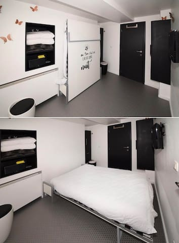 Confort et gain d'espace avec ce lit rabattable