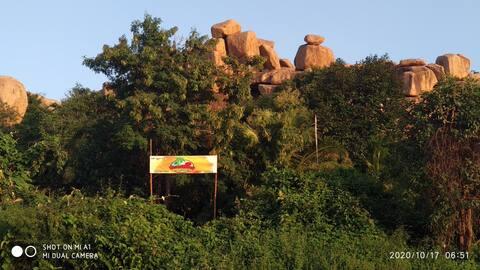 Ujjawal Sun Rise cafe Hampi island