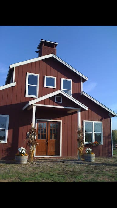 "Front of our ""barn style"" guest house known locally as ""Willow Creek Barn""."