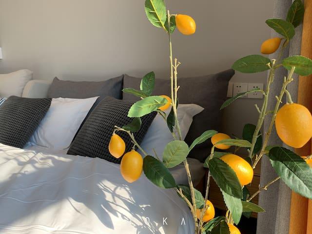 柠檬/有投影/高层城景公寓/免费停车位