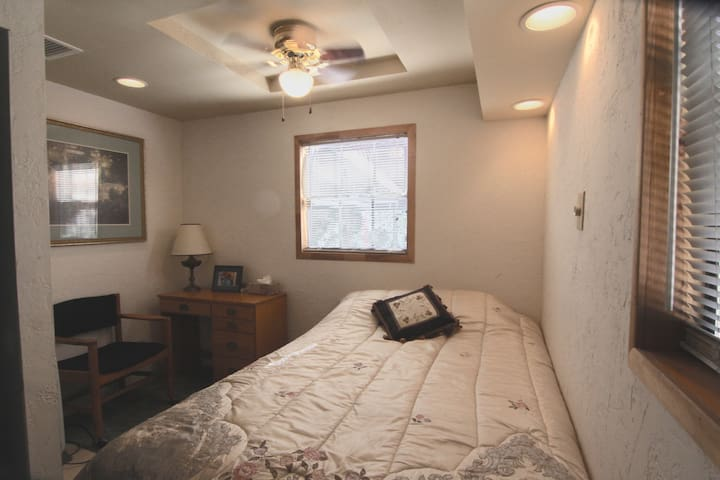 Second bedroom with full-sized bed