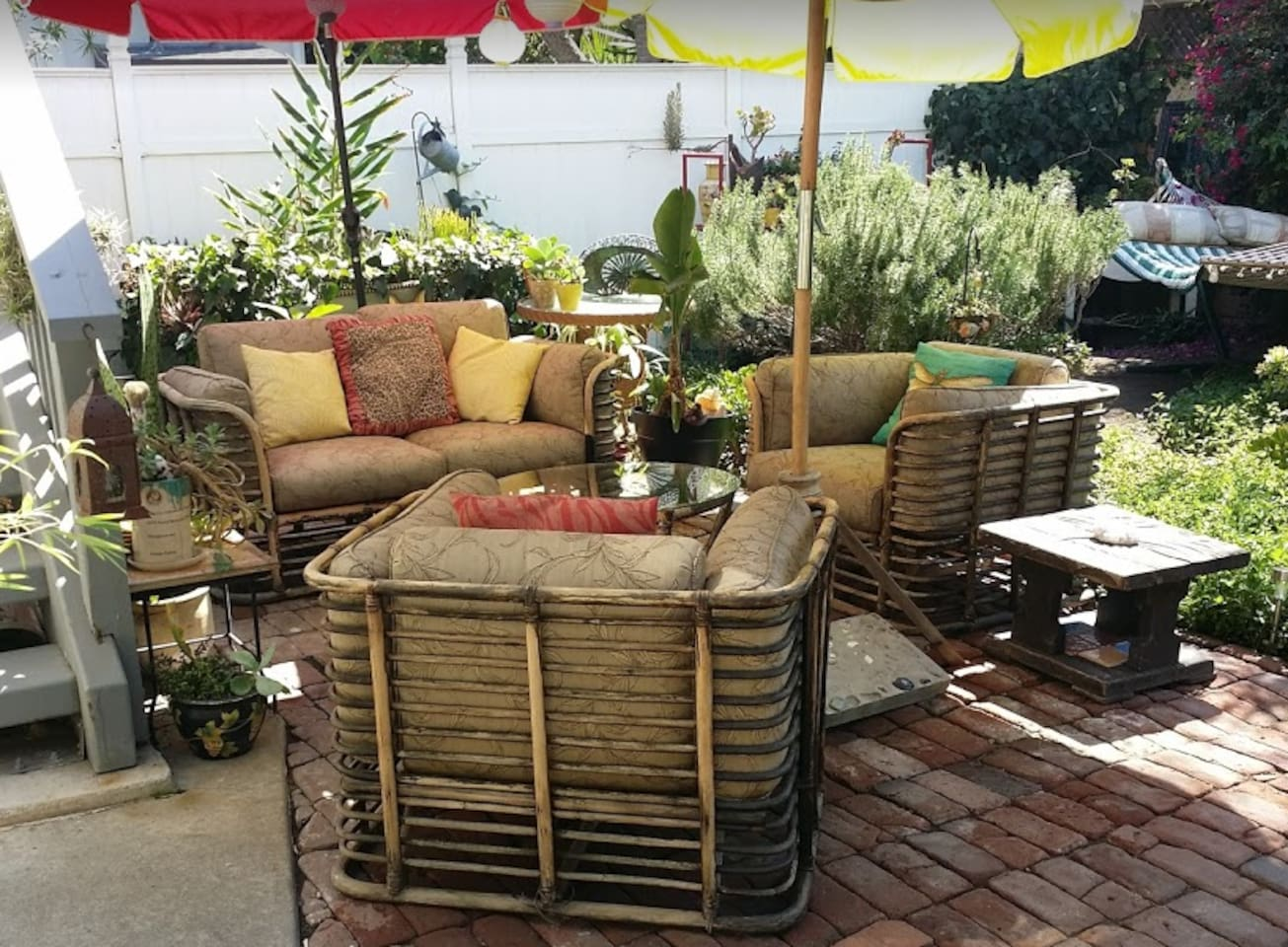 Relax in our patio garden in the shade after a long day or for that early morning coffee.