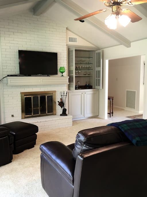 Fireplace and wet bar in the den too.