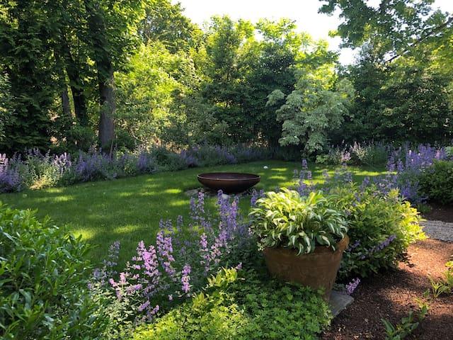 A Garden Hideaway in Jamestown Village, RI