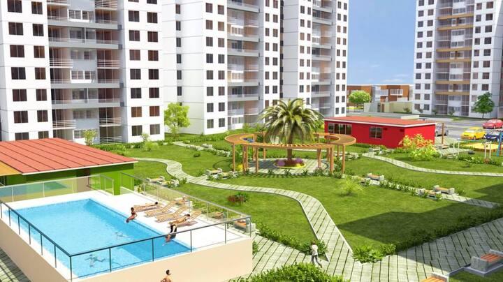 Habitación simple para 1 ó 2 personas.