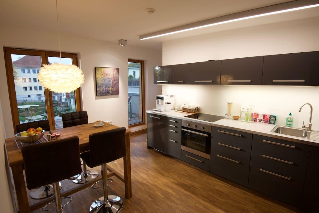 Eine Küche mit allem was angenehm ist. | Separate Eat-in-kitchen