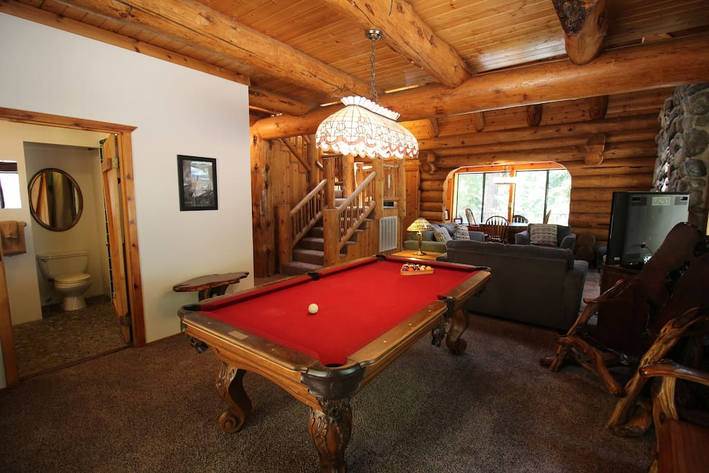 Enjoy family night with the pool table