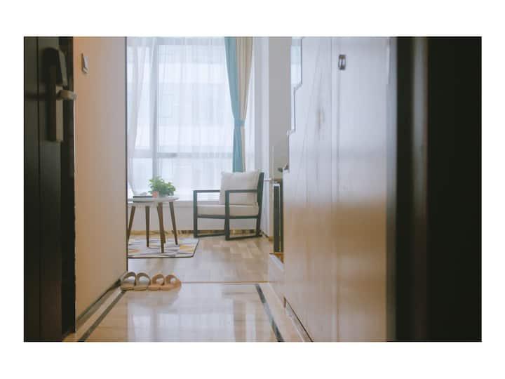[九栖小宅] 温馨loft 星海美宿 北欧清新特价房