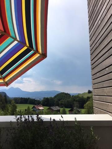 mit Blick auf Salzburg