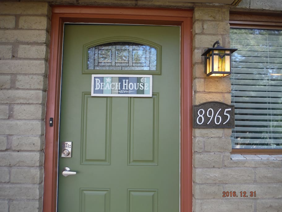 Look for the Beach House sign on the door.