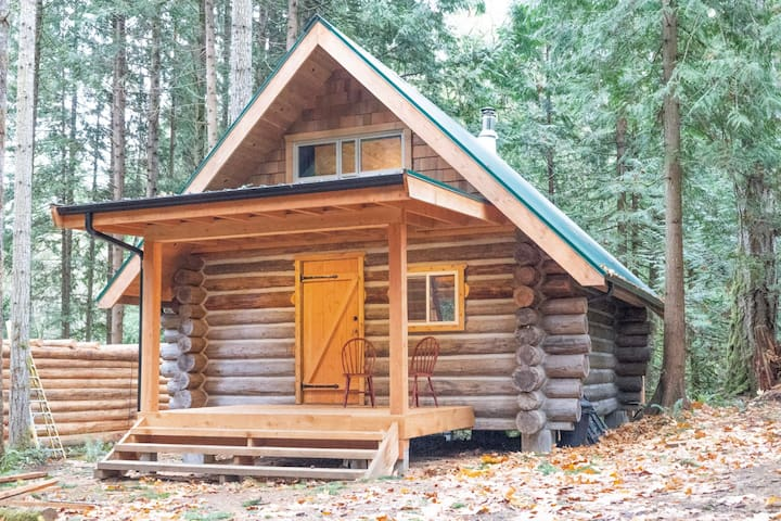 """The """"Slow-Go"""" Log Cabin in the Woods"""