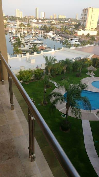 Hermosa vista a La Marina Mazatlán