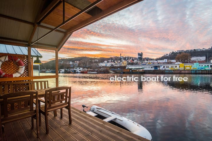 Apartment on the river - Houseboat Franklin - Prague - Guesthouse